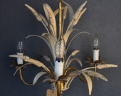 Italian Tole chandelier with sheaves of wheat.