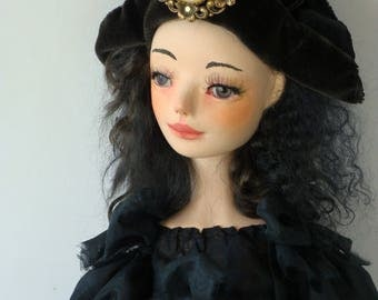 "Art doll , OOAK, handmade doll "" Margot"""