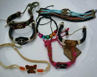 Lot of 7 unisex handmade bracelets
