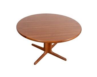 Danish Modern Round Teak Dining Table Teak Pedestal Table