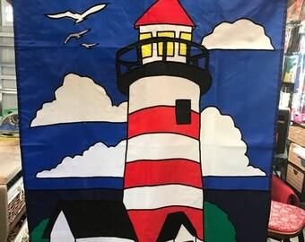 Lighthouse / Ocean Scene Large Decorative Flag