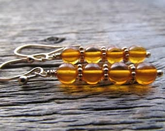 Baltic Amber Earrings, Amber Gold Earrings, Natural Amber Earrings, Amber Drop Earrings, Amber Dangle Earrings, Amber Earrings, Amber Gift