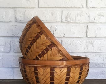 Vintage Wicker Baskets (set of 2)