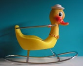 Vintage Duck Baby Rocking Horse Toy, Design by Canova Italy, 1960s