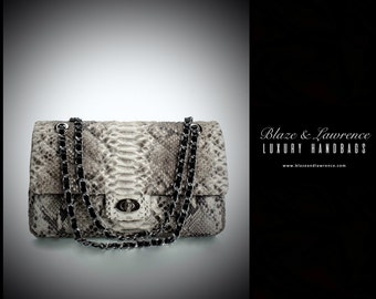 Ultimate Luxury Gift Or Accessory/Hollywood Genuine Python Leather Clutch/Genuine Snakeskin Leather Purse Handbag /2017LuxuryCollection
