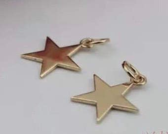 1 piece of star Light gold approx 23mm x 27mm, hardware for handbag and purses and accessories