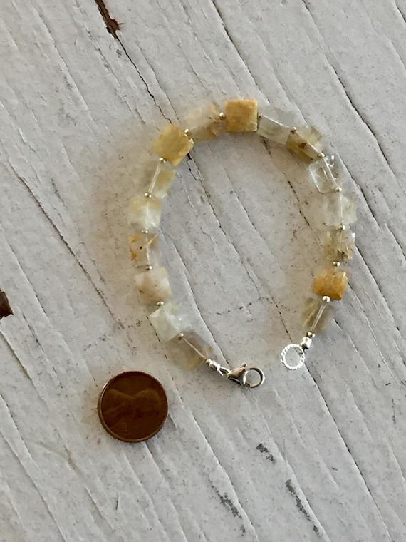 Golden Rutile Mondrian Bracelet handmade and OOAK by ladeDAH! Jewelry