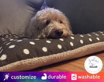 Pillow Style Dog Bed with High Quality Fiberfill Insert | Flippable, Washable, Beautiful