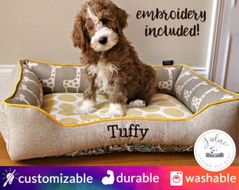 Small Dog Bed - Design Your Own Dog Bed or Cat Bed | Custom Made Pet Bed | Polka Dots, Nursery, Giraffe  - Custom Dog Bed | Custom Cat Bed