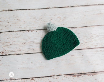 Crochet Baby Hat, Christmas Hat, Ornament Cap, Newborn Knit Beanie, Photo Prop, Gender Neutral, Baby Shower Gift, Ready to Ship