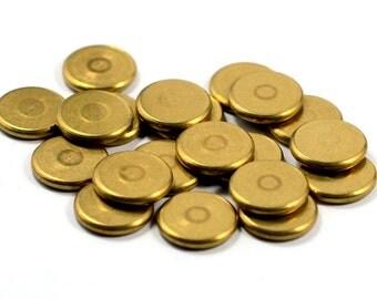 20 Pcs. Solid Raw Brass 2x14 mm Brass Disc Findings