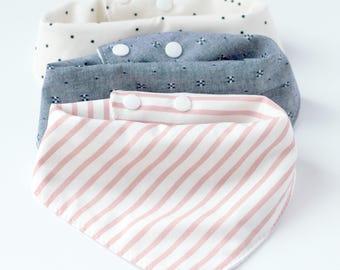 Bandana Bib Baby Bandana Bib Set Baby Bibs Drool Bib Bibs Muslin Bandana Bib Baby Bib Handmade Bandana Bib Girl Bib Baby Girl Bibs Baby Gift