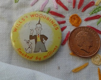 Will's Woodbine Vintage Tin Badge
