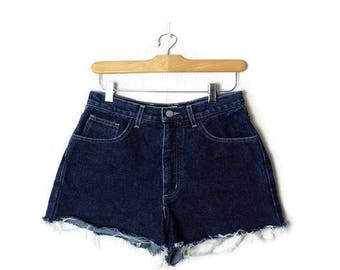 Vintage Guess Blue Denim cut off Shorts from 90's/W26*