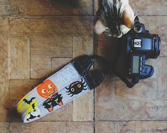 HALLOWEEN Digital SLR Camera Strap Handmade