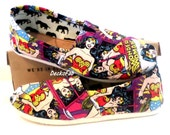 Wonder woman Licensed Fabric TOMS