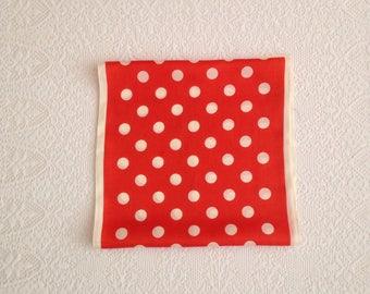 Vintage Retro Polka Dot Scarf.