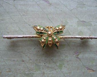 A Vintage Butterfly Brooch/Pin - Art Deco Circa 1930's-1940's.