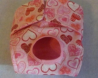 Dog Panties, Dog Clothing, Custom Dog Diaper - Pet Clothes - Pink Hearts  - Doggie Diapers, Dog Britches, Valentines