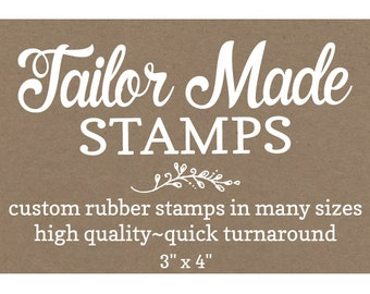 "Shopping Bag Stamp, Custom Stamp, Logo Rubber Stamp,  3"" x 4"" Wood Mounted"