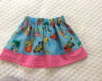 Baby girl Yo Gabba Gabba skirt,toddler skirt
