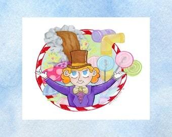 "Willy Wonka - Art Print - 5 x 7"" or 8 x 10"""