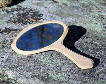 Vintage Monogrammed Bakelite Beveled Mirror