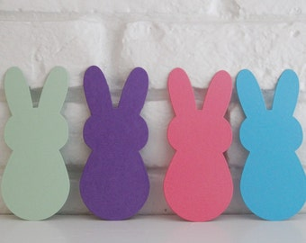 Large Easter Bunny Die Cut Shapes, Happy Easter Place Cards, Classroom Activities DIY Crafts, Scrapbook Die Cuts, Animal Shapes, Bunny Tags