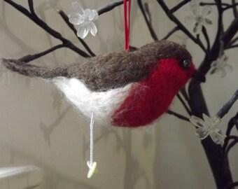 Needle Felted Robin - Home Decoration/Sculpture/Art Work/Fibre Art