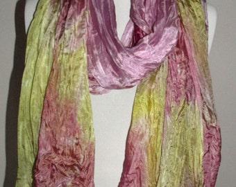 Pure Silk Wrap, Evening Shawl, Scarf - Hand Dyed.