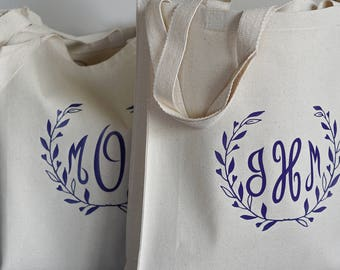 Bridesmaid Bag, Totes for Bridesmaids, Personalized Bridesmaid Gifts, Gift Bags for Wedding Party, Bridesmaid Tote Bags, Monogrammed Totes