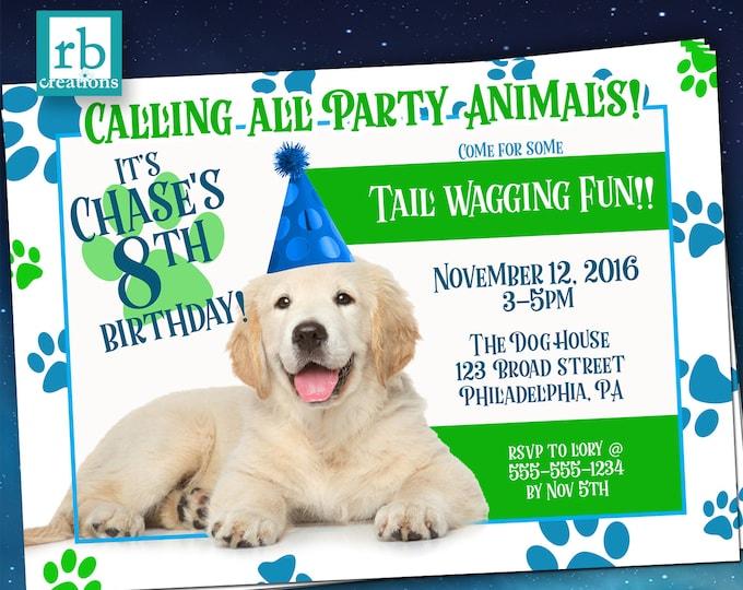 puppy party invitation puppy birthday puppy birthday invitation puppy party invites dog - Dog Party Invitations