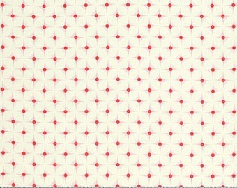 Nicey Jane Hop Dot in Cherry by Heather Bailey for Free Spirit Fabrics HB069- Half Yard or By the Yard