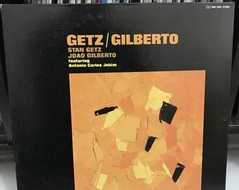 """Stan Getz & João Gilberto Featuring Antonio Carlos Jobim - """"Getz / Gilberto"""" vinyl record; Japan Import"""
