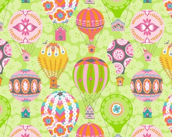 Flutter and Float Hot Air Balloon in Green