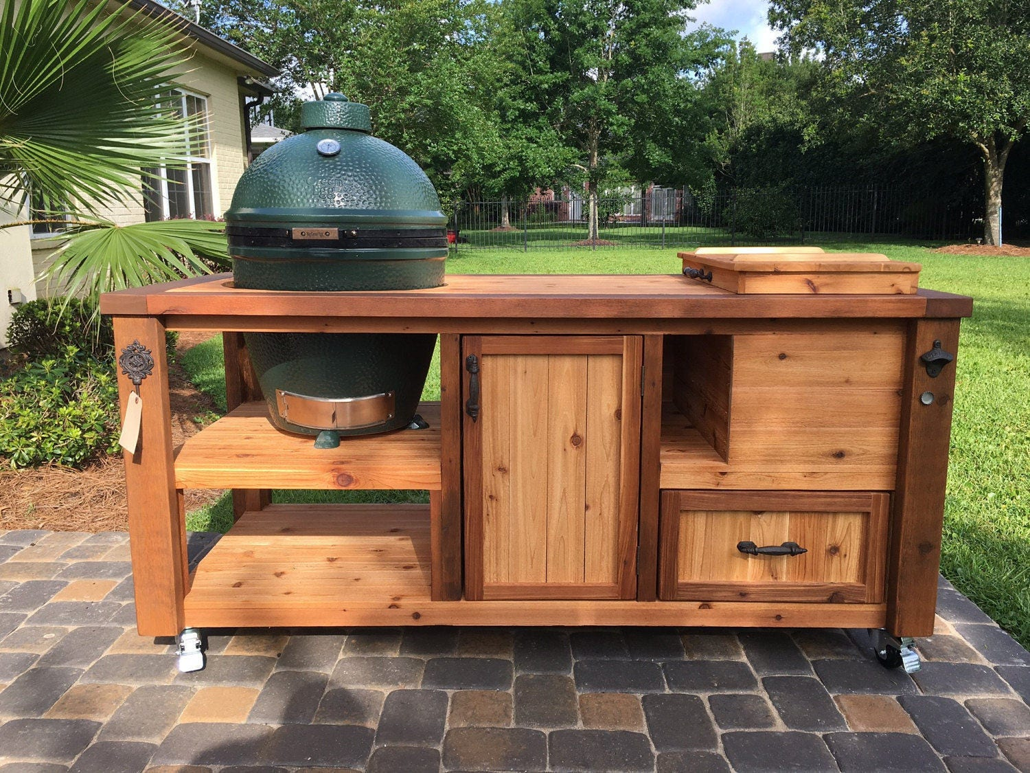 Kitchen Island Bench For Sale Custom Grill Table Or Grill Cart For Big Green Egg Kamado