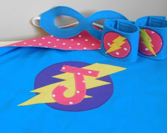 Personalized Kids Super Hero Cape with Print Fabric