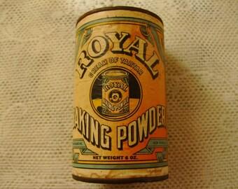 Antique Royal Baking Powder Tin - antique, vintage, retro, collectible, collectible tin, kitchen, home decor, living, dining, collections