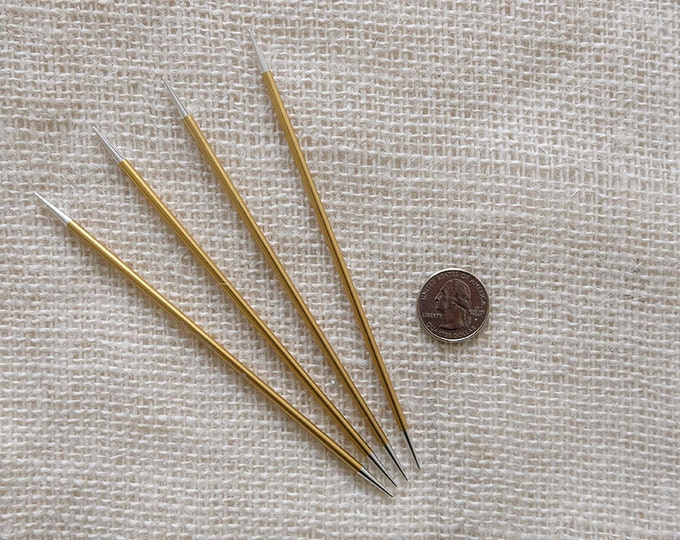 "Signature Needles Size 3 - Stiletto Tip -  needle is 6"" long - set of 4"