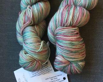 DESTASH - Green Tea & Jasmine Sw merino yarn