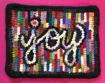 Origunal hand hooked wool mat