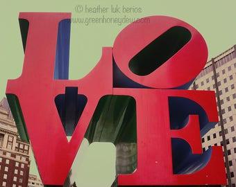 Philadelphia Love - Wall Decor - Fine Art Photography Print - Red, Sculpture, Symbol, Brotherly Love