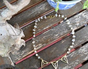 Geometric Crystal Quartz Necklace
