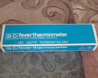 B-D Oral Fever Thermometer - Medical - Medicine Collectible