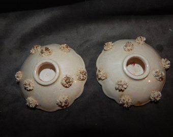 Vintage Pair of Spaghetti  Candle Holders