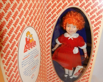 "Vintage ""ANNIE"" Porcelain Doll In Original Box by Applause"