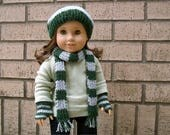 CUSTOM Knit accessories for 18 inch dolls