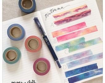 Tsutsumu Watercolor Skies Washi Tapes