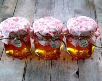 Mini Jar Favors- Shabby Chic- Honey Jar Favors-Candy Jar Favors-  Wedding- Baby Shower- Bridal Shower Favors-- SET OF 12