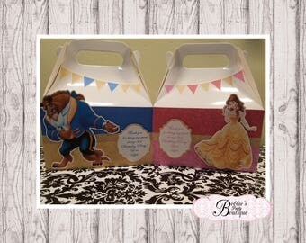 Beauty and the Beast, 10 Beauty and the Beast favor gable box, Beauty and the Beast favor box